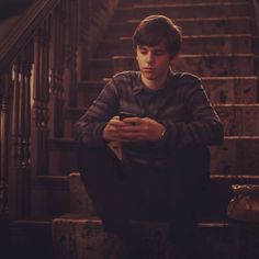 Always on his phone. #bates #motel