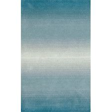 Ombre Aqua Horizon Area Rug