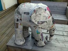 How to build a paper mache elephant in 5 easy steps @Sharron Knutsen Welch