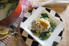 Greek Lemon Chicken Soup with Spinach   Tasty Kitchen: A Happy Recipe Community!