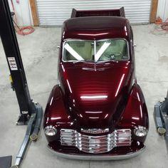 Over head photo of 51 Chevy 3100 deluxe