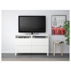 BESTÅ TV bench with drawers - Lappviken grey stained walnut effect - IKEA At Home Furniture Store, Modern Home Furniture, Furniture Logo, Affordable Furniture, Online Furniture, Living Room Furniture, Royal Furniture, Besta Tv Bank, Ikea Canada