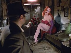 "Jessica Rabbit (Kathleen Turner): ""I'm not bad. I'm just drawn that way."" -- Who Framed Roger Rabbit?"" (1988) directed by Robert Zemeckis"