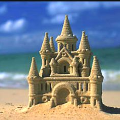 Building sand castles is a favorite summer thing to do. does yours look like this? lol!