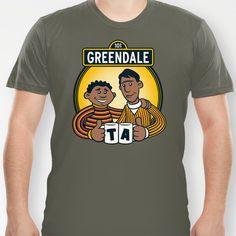 Greendale Street T-shirt by Matthew J Parsons - $18.00