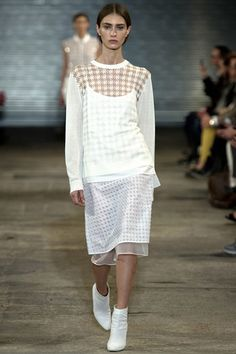 Richard Nicoll Spring/Summer 2014 Ready-To-Wear || see-through #houndstooth - brilliant!