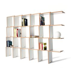 L Shelving System, 599€,   Storage That Leaves Chaos In 2012    Founded in 2010 in Rotterdam, Arré Design Agency supports a collective of young and upcoming artists and designers, by making their innovative contemporary work available throughout Europe. This selection includes the Insekt Desk and the L Shelving System: designed to fulfill everyday spatial and functional needs.