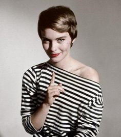 You need this Jean Seberg black and white striped shirt.