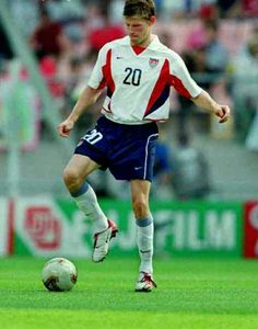 Brian McBride of USA in action at the 2002 World Cup Finals.