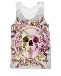 Now available in our store Flower Skull Tank.... Check it out here! http://everythingskull.com/products/flower-skull-tank-top-skull-and-cross-bones-with-pretty-ribbon?utm_campaign=social_autopilot&utm_source=pin&utm_medium=pin