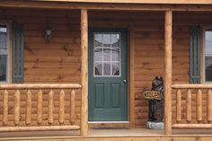 log cabin loft with wrap around pourch - Google Search