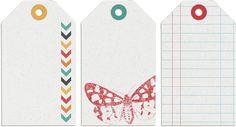 une jolie série de tags (peu gourmands en encre, ce qui ne gâche rien !) pour vos créations numériques ou hybrides...