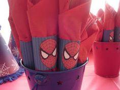 Spiderman napkins #spiderman #party #ideas