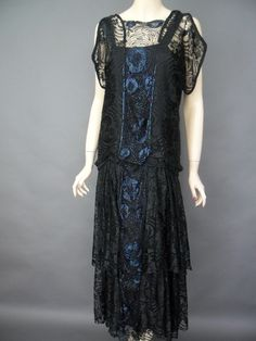 Black flapper dress from Antique Clothier