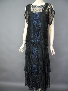 Black flapper dress from Antique Clothier