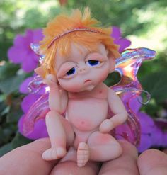fairies welcome wign image | Fantasy Fairy Baby - One Of A Kind Polymer Clay Sculptures