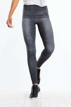 Form-fitting shape with the added benefit of figure flattering contour shading. Higher navel-grazing rise lends a streamlined silhouette. Soft breathable fabric completes the all-day appeal. High Rise Legging by Lucy. Clothing - Activewear - Leggings Rhode Island