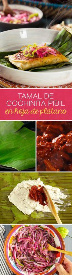 Ocupa la cochinita pibil que te quedó de otras preparaciones para preparar estos deliciosos tamales de cochinita pibil en hoja de plátano. Una receta mexicana y tradicional que sorprenderá a toda tu familia.