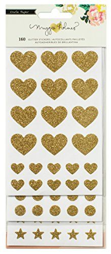 Crate Paper 107 Piece 3 Sheets Maggie Holmes Shine Glitte…