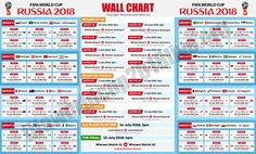World Cup 2018 wallchart: Download or print off your brilliant guide to the finals in Russia Simply open download the PDF file to your desktop and print it off today! Keep Track of upcoming Matches schedule & Fixtures Included: - Downloadable FIFA 2018 World Cup Russia Wallchart FIFA RUSSIA 2018 printable Size: - A4 You may print it as many times as you need Wallchart FIFA 2018 World Cup Russia PDF / Printable/ Bracket / Mondial / Template / Calendar / Planner / Match Schedule / Spreadsheet