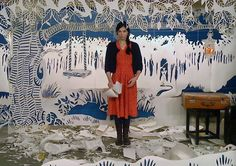 Maeve Clancy is an artist who creates incredibly elaborate installations made from paper cut by hand with a scalpel. She made the set for Lisa Hannigan's video I don't know  (shown above)