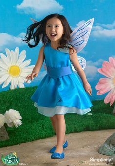 Disney Fairy Silvermist Costume for Children #SimplicityPatterns #Halloween