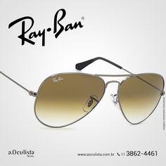 Óculos de Sol Aviador Ray Ban, aproveita! 😍  Compre em Até 10x Sem Juros e frete grátis nas compras Acima de R$400,00  Acesse: www.aoculista.com.br/ray-ban  #rayban #glasses #oculos #eyeglasses #sunglasses