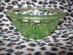 Here is an amazing piece from Anchor Hocking. This is a classic Uranium glass bowl. It is a 6 diameter side bowl. Great condition with no