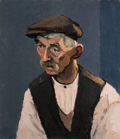 Hugh Thomas, Portrait of a Farmer  by Kyffin Williams