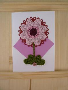 Crochet Flower Birthday Card