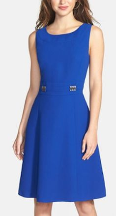 Cute fit and flare dress http://rstyle.me/n/m8rnznyg6