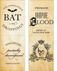 poison bottle labels halloween
