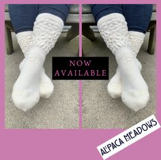 New in stock ‼️ Daily Balance Alpaca Socks are now available in ivory.available online and the farm store. If you've never owned a pair of alpaca socks.it's time! Alpaca Socks, Baby Alpaca, Feet Care, Keep Your Cool, Mens Fitness, Leg Warmers, Fit Women, Routine, Farm Store