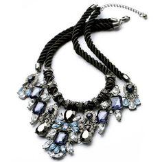 Fashion Colorful Rhinestone Decorated Geometric Pendant Double-Layered Necklace For Women