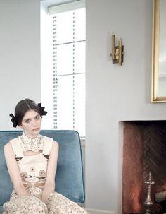 Carrie-Anne Burton in Rodarte photographed by Nan Goldin for Grey F/W 2012