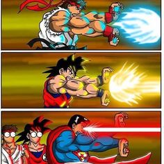 #streetfighter #dragonballz #goku  #marvel #superman #hero #anime #cartoon #game #funny #kamehameha #laser #white #che #red #yellow #amazing #awesome #cool #fight #action #superpower #power #strong #character #love #u #all #superhero #muscle
