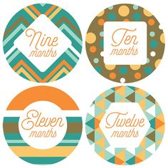 Have fun with these 12 Retro Patterned Monthly Baby Boy Milestone Stickers! They make a great baby shower gift for parents who are expecting, or just welcoming a new addition to the family. Milestone stickers are a unique and creative way to show off your growing baby, month to