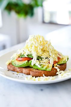 Shaved Egg Avocado Toast | foodiecrush.com