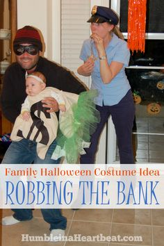 Need a Halloween costume idea for your new little family? If you have a baby younger than about 5 months, this group costume would work well and be lots of fun!