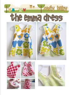 Baby and Toddler Pinafore Dress Sewing Pattern