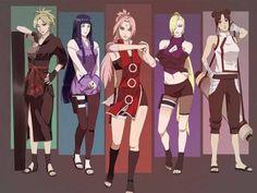 Naruto// Sakura, Temari, Hinata, Ino and Tenten Naruto Uzumaki, Anime Naruto, Naruto Girls, Art Naruto, Naruto Comic, Shikamaru, Naruto And Sasuke, Naruhina, Shikatema