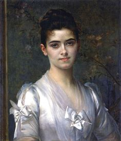 Alexandre Cabanel (French painter, 1823–1889) Portrait of a Young Girl 1886