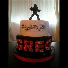 Elvis Themed Birthday Cake