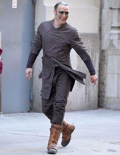 Mads Mikkelsen looking fab BTS of Doctor Strange