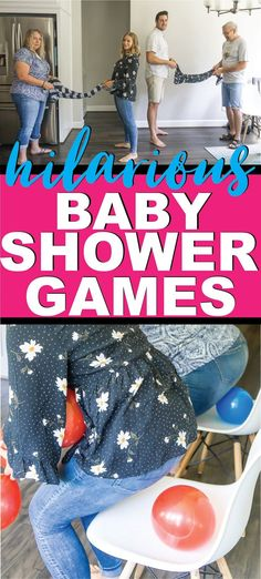 20 Super Fun Baby Shower Games - Play Party Plan The most fun baby shower games ever! Tons of unique baby shower games, coed baby shower games, and more to keep your guests laughing! Otoño Baby Shower, Baby Shower Games Unique, Baby Shower Party Games, Fiesta Baby Shower, Shower Bebe, Coed Baby Shower Food Ideas, Baby Shower Stuff, Babyshower Themes For Girls, Baby Shower Games Funny