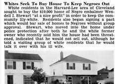 Whites Seek to Buy House in Cleveland To Keep Blacks Out - Jet Magazine, July 30, 1953 | Flickr - Photo Sharing!
