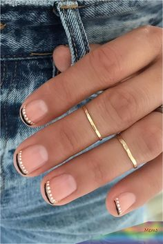 """""""French Moon"""" Nail Art Is the Dark New Twist on the Classic French Manicure - - """"French Moon"""" Nail Art is the Dark New Twist on the Classic French Manicure Manicure And Pedicure, Gel Nails, Nail Polish, Acrylic Nails, Moon Manicure, Coffin Nails, Minimalist Nails, Cute Nails, Pretty Nails"""