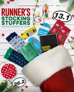 Stocking Stuffers for Runners, Small Running Gifts Running Gifts, Running Gear, Running Workouts, Christmas Goodies, Christmas Themes, Christmas Holidays, Christmas Ornaments, Christmas Runner, Gifts For Runners