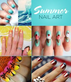 Sharpen your #nailgame with these summery nail art patterns. Brought to you by Shoplet- everything for your business.