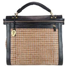 de58338fa4f Bones Trysa handtas, handgemaakt volnerf runderleer met stoffen voorkant  door BonesArtisan op Etsy Luggage Bags